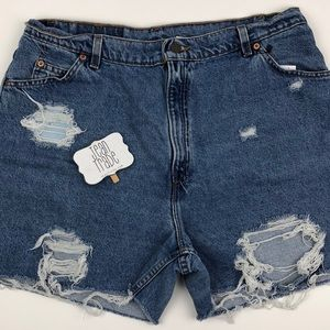 Levi's Orange Tab Jean Shorts